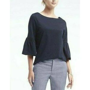 Banana Republic Shirt Bell Sleeve Navy T-Shirt